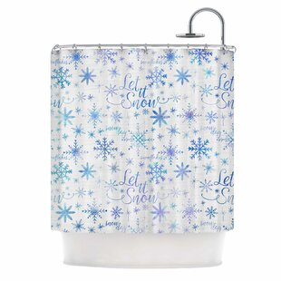 Let It Snow Winter Pattern Single Shower Curtain