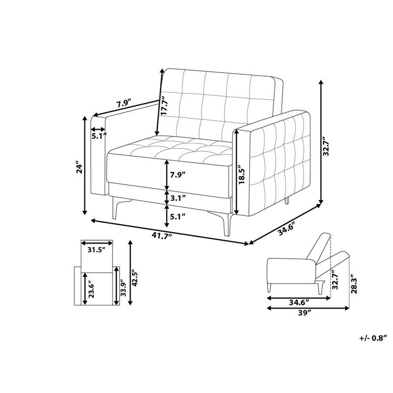 Orren Ellis Garden Modular Fabric Armchair