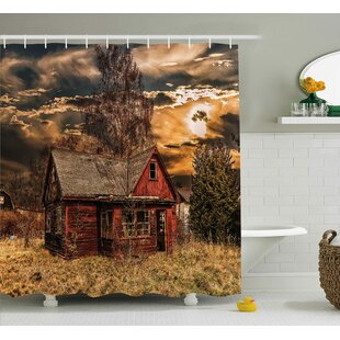 Scenery Horror Movie Theme Shower Curtain + Hooks