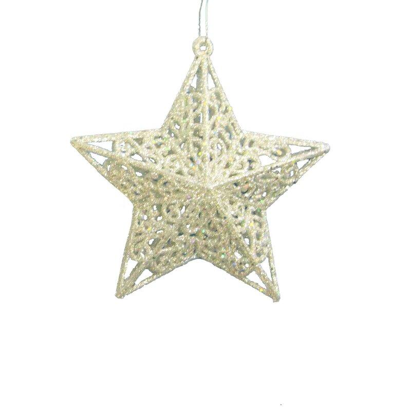 Kurt Adler Glitter 5 Point Star Holiday Shaped Ornament Reviews Wayfair