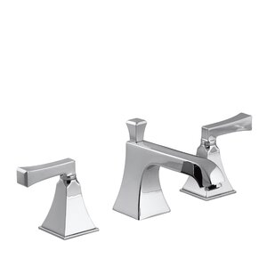 San Souci Widespread Double Handle Bathroom Faucet with Drain Assembly