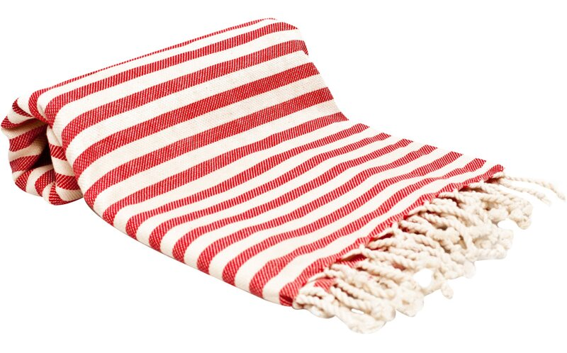 Beachcrest Home Features: Fabric material: 100% Turkish cotton Traditional woven style Ultra soft Multi purpose towel Take up less space Product Type: Beach towel;Bath towel Color: Accent Color: White Material: Turkish cotton Pieces Included: Hypoallergenic: No Antimicrobial: No Weave Type: GSM (Absorbency): 200 Pattern: Striped Personalization: No Age Group: Adult;Child Lightweight: Yes Licensed Product: No Product Care: Cold wash; Hang dry; No bleach Country of Origin: Turkey Theme: Hooded: No Holiday / Occasion: No Holiday Set/Single: Single Piece Made in USA: NoSpefications: Dimensions: Bath Towel: Yes Number of Bath Towels Included: Bath Towel Length - Top to Bottom: 75 Bath Towel Width - Side to Side: 35 Bath Towel Thickness: 0.5 Bath Sheet: No Number of Bath Sheets Included: Bath Sheet Length - Top to Bottom: Bath Sheet Width - Side to Side: Bath Sheet Thickness: Fingertip Towel: No Number of Fingertip Towels Included: Fingertip Towel Length - Top to Bottom: Fingertip Towel Width - Side to Side: Fingertip Towel Thickness: Hand Towel: No Number of Hand Towels Included: Hand Towel Length -Top to Bottom: Hand Towel Width - Side to Side: Hand Towel Thickness: Washcloth: No Number of Washcloths Included: Washcloth Length - Top to Bottom: Washcloth Width - Side to Side: Washcloth Thickness: Overall Product Weight: 1Assembly: Warranty: Product Warranty: 15 Day Color: Red