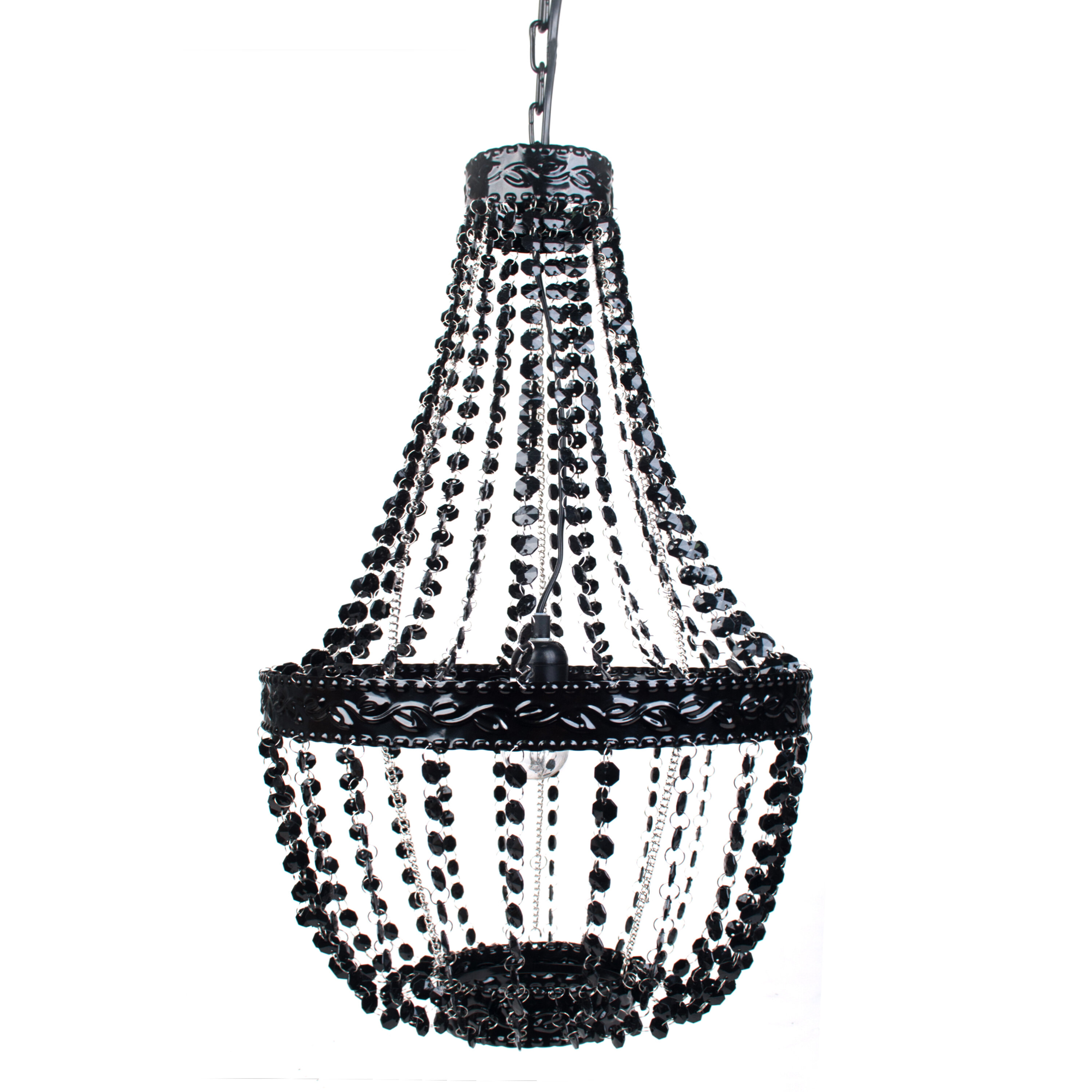 Andover Mills Baby Kids Senoia 1 Light Unique Statement Geometric Pendant With Beaded Accents Reviews Wayfair