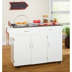 Garrettsville Kitchen Island with Stai..