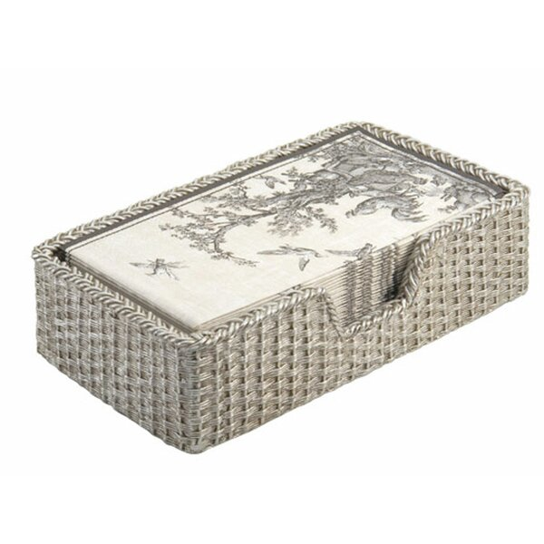 4 x 7 16 Ct Silver Ornamental Scroll Guest Paper Towels