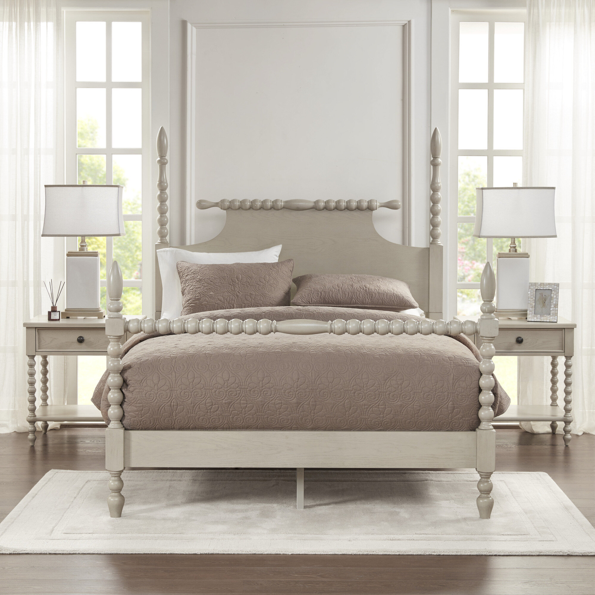 Madison Park Signature Beckett Low Profile Four Poster Bed Reviews Wayfair