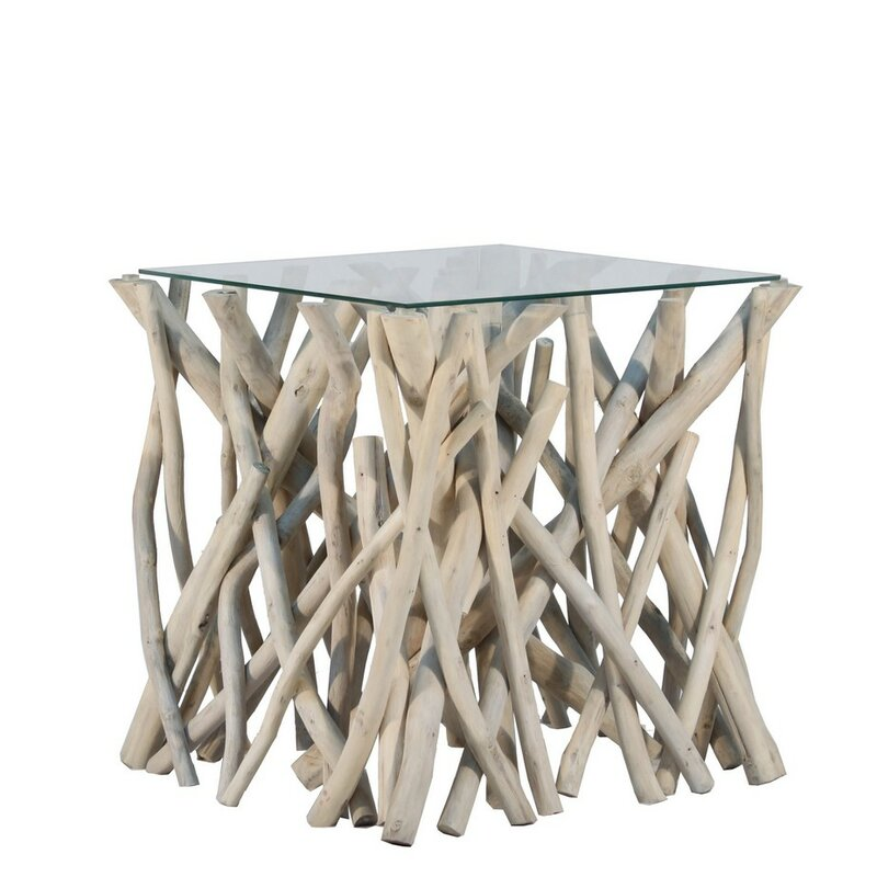 natural branch end table