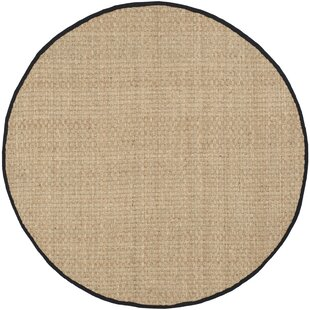 Richmond Natural/Black Area Rug by Beachcrest Home