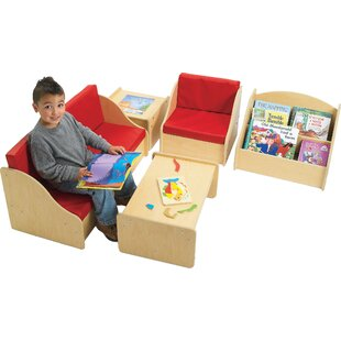 Comparison Value Line 5 Piece Writing Table and Chair Set ByAngeles