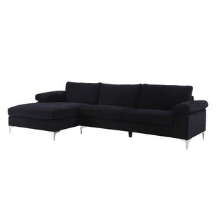 Black Chaise Sofa Sectionals Youu0027ll Love | Wayfair