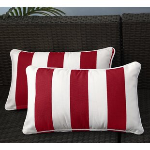 Fawcett Water Resistant Stripe Indoor/Outdoor Throw Pillow (Set of 2)