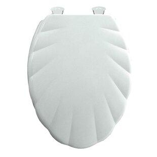Shell Design White Plastic Toilet Seat
