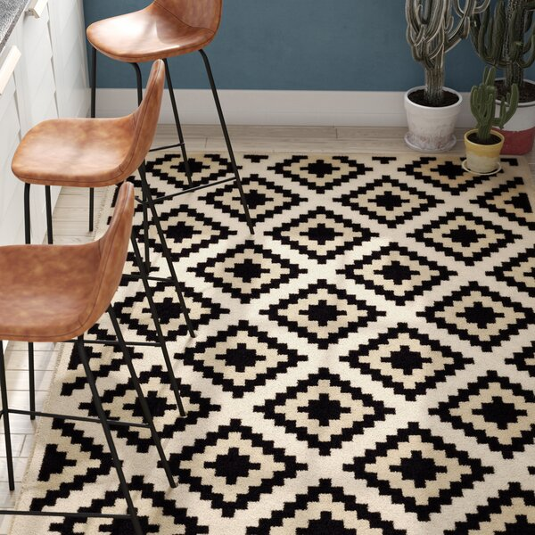 Best Area Rugs, Best Contemporary Area Rugs, Amoll Ivory/Black Area Rug
