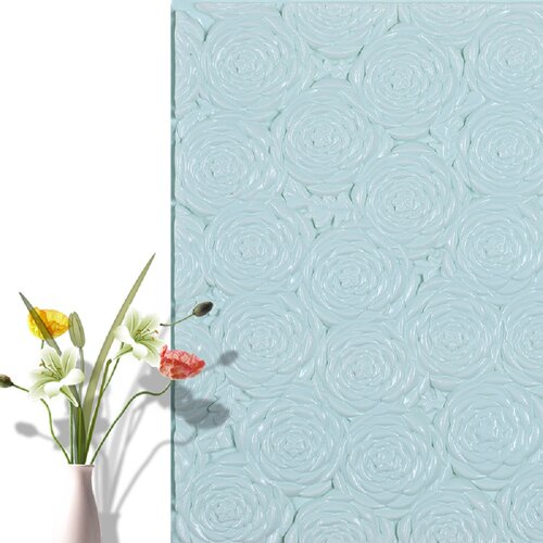 Peel-and-Stick Removable Wallpaper Red Roses Silhouette Floral Spring Summer