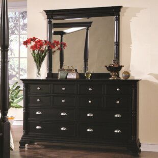 Ardnaglass 12 Drawer Double Dresser with Mirror