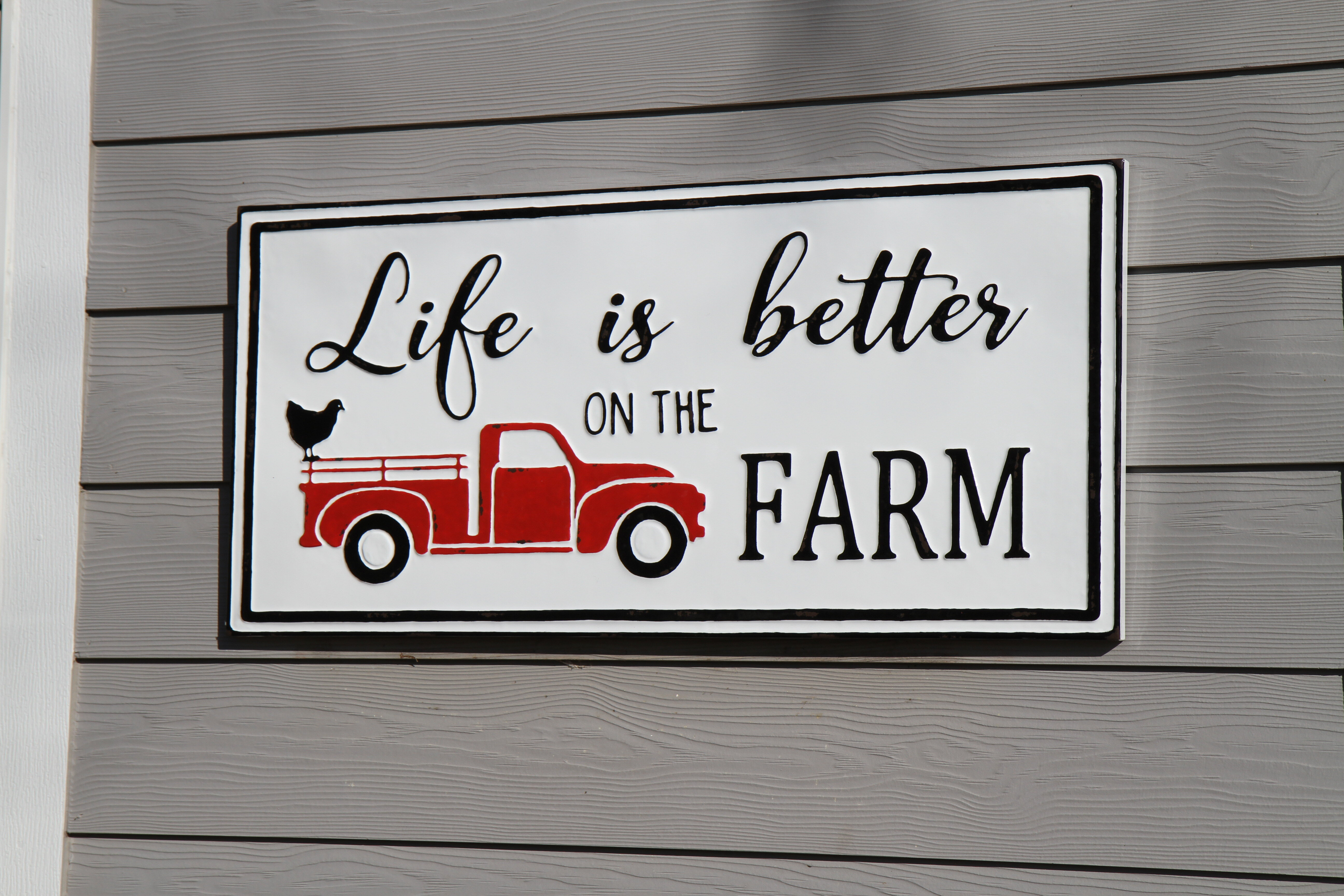 Rosalind Wheeler Life Is Better On The Farm Embossed Metal Wall Decor Wayfair