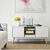 Frady Solid Wood TV Stand for TVs up to 55 by George Oliver