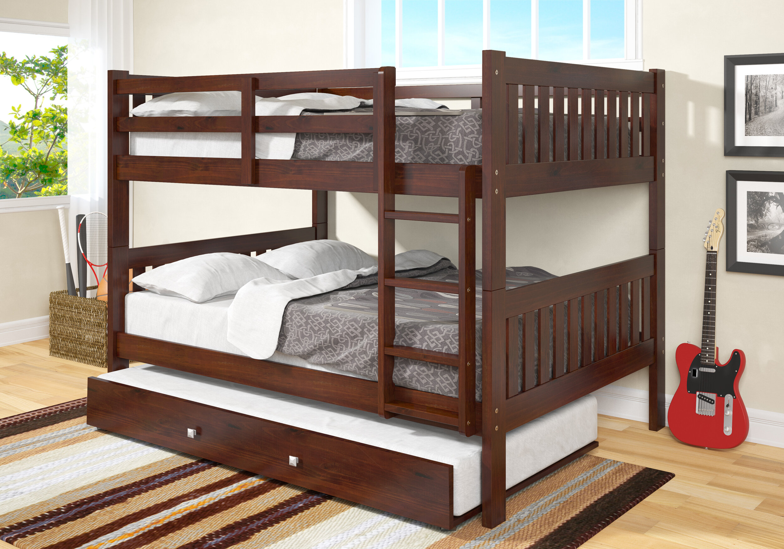 766f0cad915ba8 Harriet Bee Hargrave Full over Full Bunk Bed with Trundle & Reviews |  Wayfair