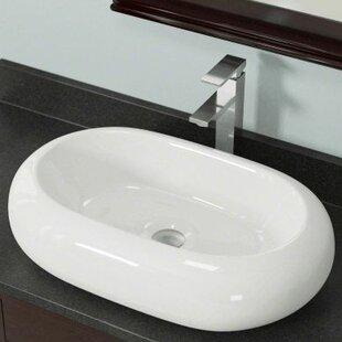 Inexpensive Vitreous China Oval Vessel Bathroom Sink ByPolaris Sinks