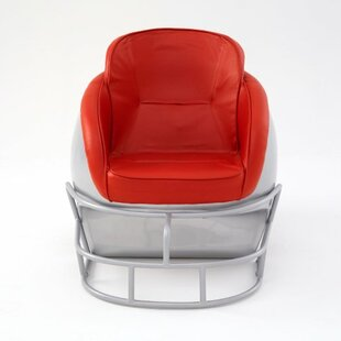 NCAA Ohio State University Football Helmet Leather Lounge Chair by Butt'N Head Office Furniture