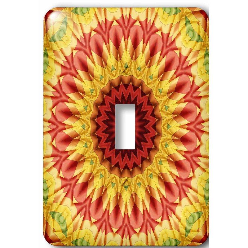 3drose Lsp 41953 1 Colorful Baloon Magic Star Mandala Single Toggle Switch Wall Plates Tools Home Improvement