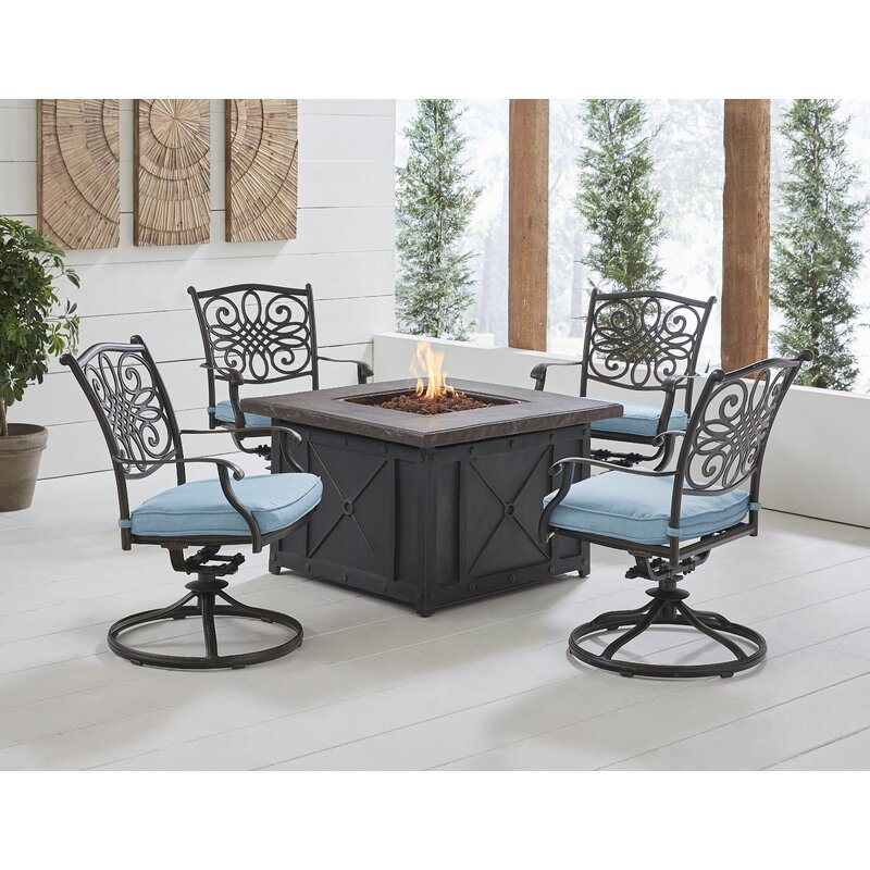 Fleur De Lis Living Carleton 5 Piece Multiple Chairs Seating Group With Cushions Wayfair