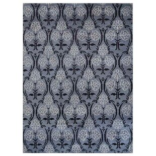 Best Reviews Camper Hand-Knotted Gray/Black Area Rug ByCharlton Home