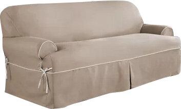 Beau Serta Twill T Cushion Sofa Slipcover U0026 Reviews | Wayfair