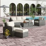 Belmonte 5 Piece Rattan Sofa Seating Group with Cushions