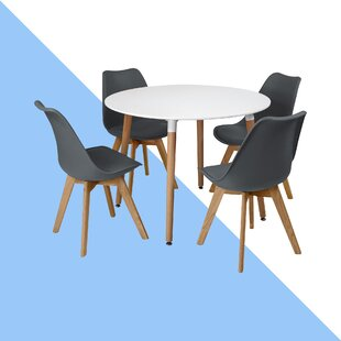 Rinan Dining Set with 4 Chairs
