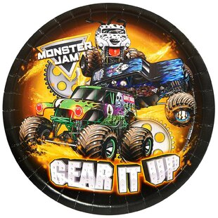 Monster Jam Paper Disposable Dessert Plate (Set of 8)