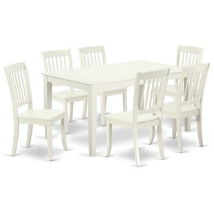 Laforge 7 Piece Solid Wood Dining Set