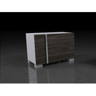 Vernita Italian Modern 2 Drawer Nightstand