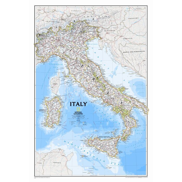 Detailed Map Of Italy on