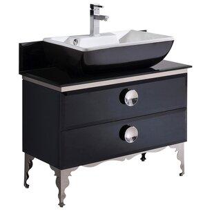 Best Moselle Glass 34 Single Bathroom Vanity ByFresca