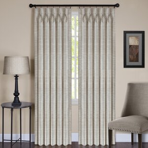 Parker Solid Sheer Pinch Pleat Single Curtain Panel