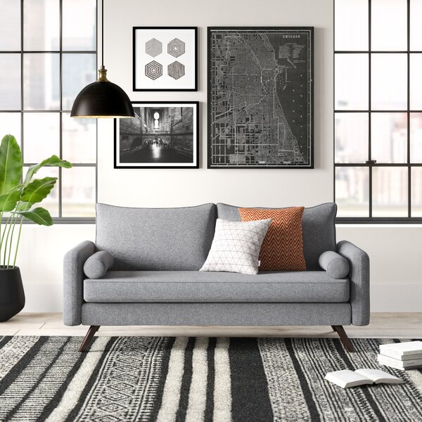 Excellent Modern Contemporary Memory Foam Sofa Allmodern Caraccident5 Cool Chair Designs And Ideas Caraccident5Info