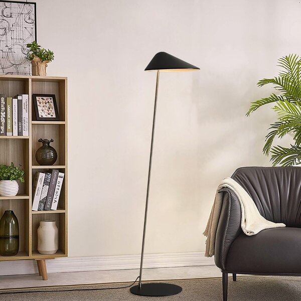 Ibis Floor Lamp, Satin Nickel by Nova of California