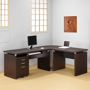 Boudy 3 Piece L-shaped Desk Office Suite