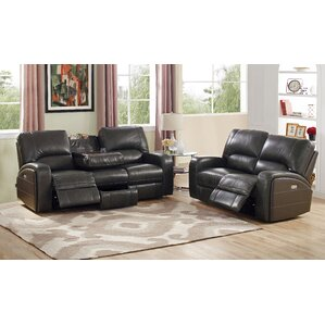 Woodhull Leather 2 Piece Living Room Set by Red Barrel Studio