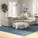 Daria 98.8 Right Hand Facing Modular Sectional with Ottoman by Foundstone™