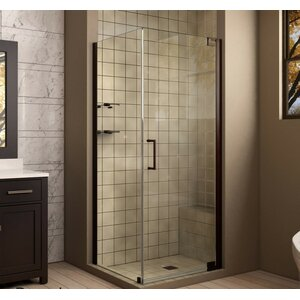 Elegance 30 in. W x 30 in. D x 72 in. H Pivot Shower Enclosure with Hardware