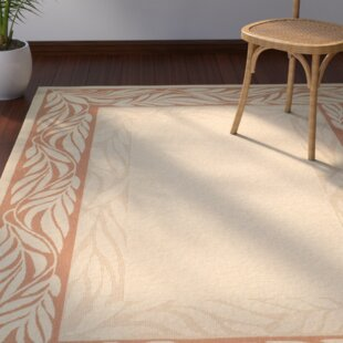 Amaryllis Tan/Red Indoor/Outdoor Area Rug