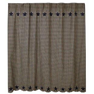 Laskie Star Cotton Single Shower Curtain