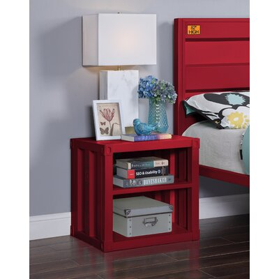 Otero Nightstand Zoomie Kids Color: Red