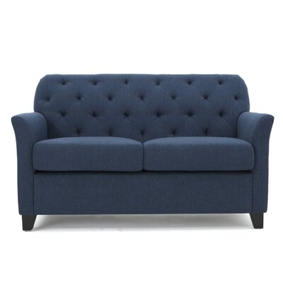 Amabel Loveseat Upholstery Color: Dark Blue by Andover Mills