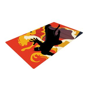 Kevin Manley Prodigal Son Batman Fire Yellow/Black Area Rug