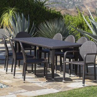 Tietjen Outdoor 9 Piece Dining Set