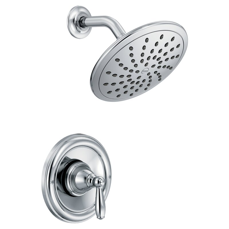 Moen Brantford Pressure Balance Shower Faucet with Lever Handle ...