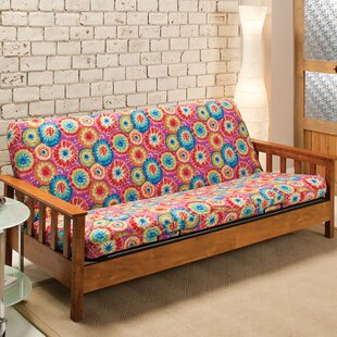 Patterned Box Cushion Futon Slipcover